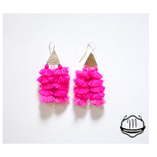 BOMBOM earrings pink
